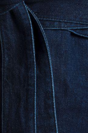 J.W.ANDERSON Leather-paneled denim mini skirt