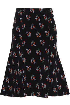 SONIA RYKIEL Floral-print cotton-blend corduroy skirt