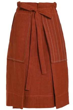 SONIA RYKIEL Pleated linen skirt