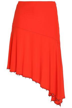 114fca9795c SONIA RYKIEL Asymmetric bead-embellished silk crepe de chine skirt