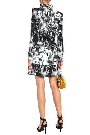 SONIA RYKIEL Printed crepe de chine mini skirt