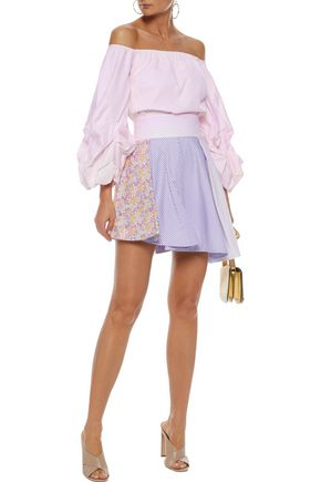 PETERSYN Tinsley printed cotton-poplin mini skirt