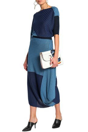 J.W.ANDERSON Draped ribbed linen midi skirt