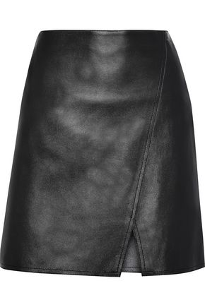 BELSTAFF Estelle wrap-effect leather mini skirt