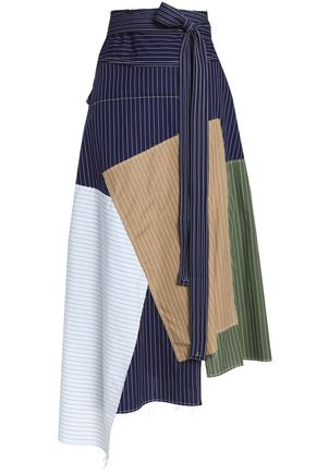 J.W.ANDERSON Asymmetric patchwork cotton midi skirt