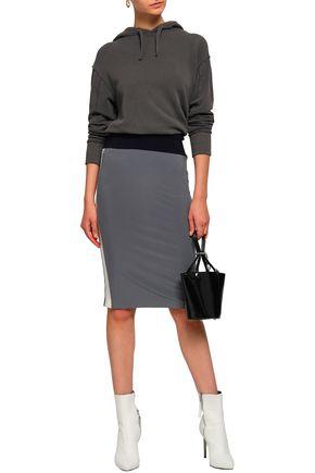 NORMA KAMALI Color-block stretch-jersey pencil skirt
