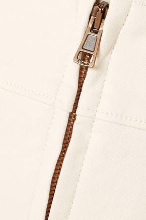 CHLOÉ Stretch-cotton midi skirt