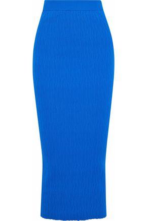 SIMON MILLER Marsing ribbed-knit midi skirt