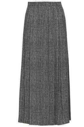 VANESSA SEWARD Pleated printed silk maxi skirt