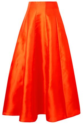 MERCHANT ARCHIVE Hero pleated silk midi skirt