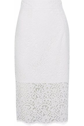 MILLY Classic corded lace pencil skirt