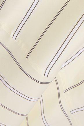 DEREK LAM 10 CROSBY Asymmetric striped satin-crepe midi wrap skirt