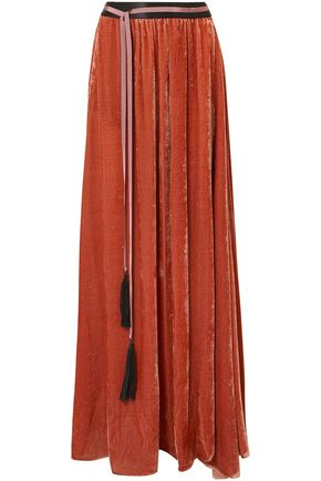 ANN DEMEULEMEESTER Belted chenille maxi skirt