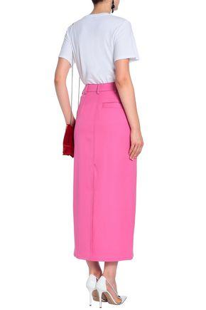 OSCAR DE LA RENTA Stretch-wool twill maxi skirt