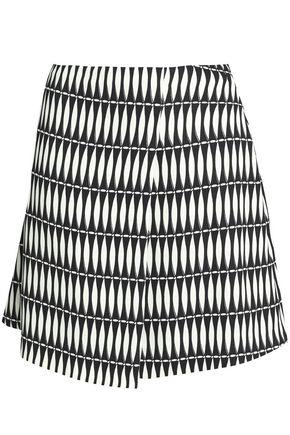LANVIN Printed crepe mini skirt