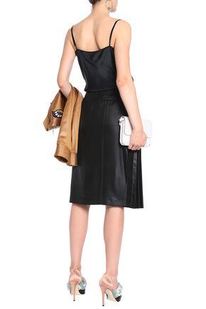 MARCO DE VINCENZO Pleated satin skirt