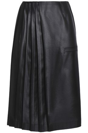 MARCO DE VINCENZO Pleated satin skirt