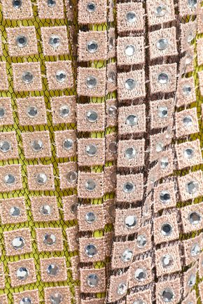 MARCO DE VINCENZO Embellished macramé and tulle midi skirt