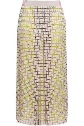 MARCO DE VINCENZO 装飾付き マクラメ&チュール ミディスカート