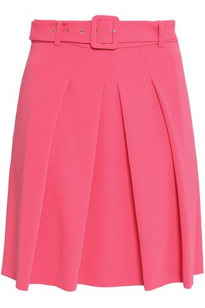 BOUTIQUE MOSCHINO Pleated crepe mini skirt