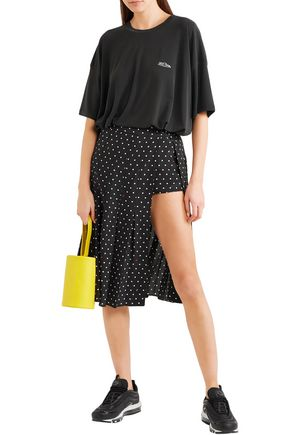 2da10057b2 SANDY LIANG Uniform cutout polk-dot silk-crepe skirt