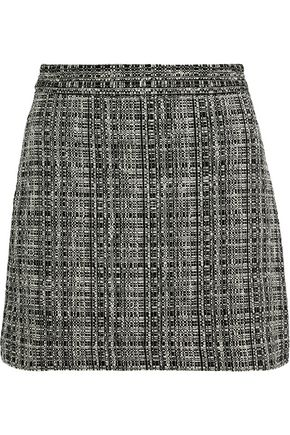 MILLY Modern cotton-blend tweed mini skirt