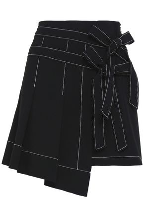 CINQ À SEPT Ingrid crepe mini skirt