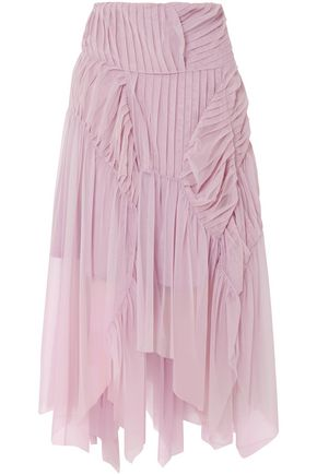 PREEN by THORNTON BREGAZZI Pleated tulle midi skirt
