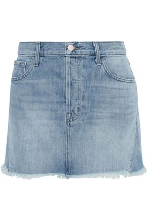 J BRAND Bonny frayed denim mini skirt