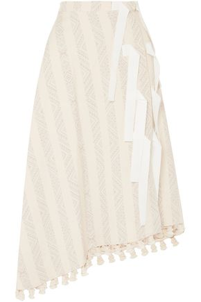 ALTUZARRA Basilica tasseled cotton-blend jacquard midi skirt