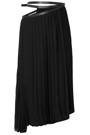 JIL SANDER Asymmetric pleated crepe wrap skirt