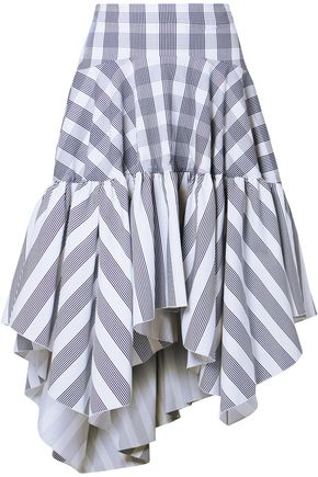 ANTONIO BERARDI Printed cotton-blend poplin skirt