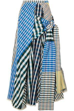 MARNI Printed knotted taffeta midi skirt