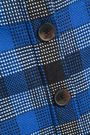 DEREK LAM 10 CROSBY Frayed checked woven mini skirt