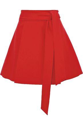 ALICE + OLIVIA Helina tie-front crepe mini skirt