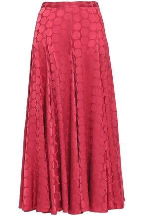 CO Flared satin-jacquard maxi skirt