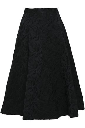 CO Jacquard flared midi skirt