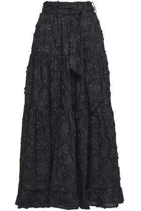 CO Tiered cotton fil coupé maxi skirt