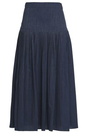 CO Metallic crepe jacquard midi skirt