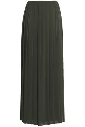 VIONNET Pleated georgette maxi skirt