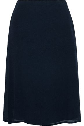 MANSUR GAVRIEL Crinkled silk-blend midi skirt