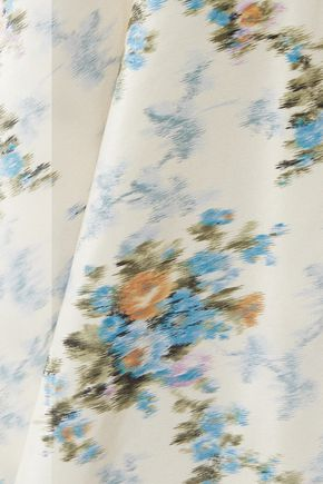 BROCK COLLECTION Sophie floral-print silk-taffeta maxi skirt