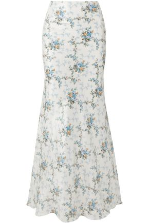 BROCK COLLECTION Sophie floral-print silk-taffeta maxi skirt