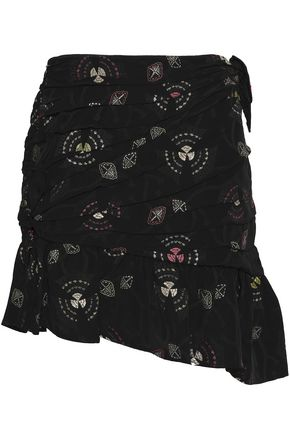 A.L.C. Avalon asymmetric pleated jacquard mini skirt