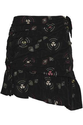 A.L.C. Avalon asymmetric pleated jacquard mini skirt