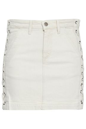 A.L.C. | A.l.c. Lace-up Denim Mini Skirt | Goxip