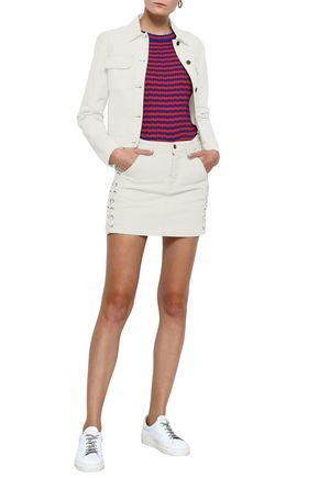 A.L.C. Lace-up denim mini skirt