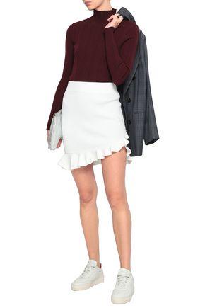 A.L.C. Portman ruffle-trimmed ribbed-knit mini skirt