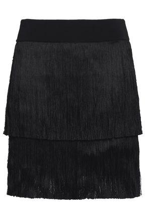 A.L.C. Santiago fringed stretch-knit mini skirt