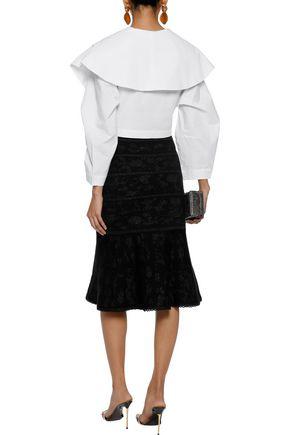 CAROLINA HERRERA Metallic wool-blend jacquard skirt